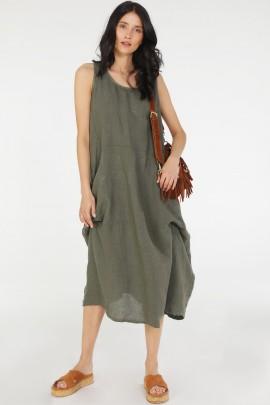 Платье Unisono 34-2821 MILITARE