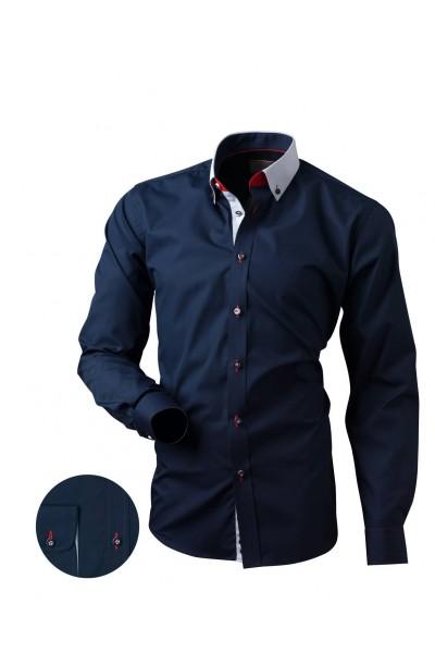 Рубашка VICTORIO V169 SLIM тёмно-синий