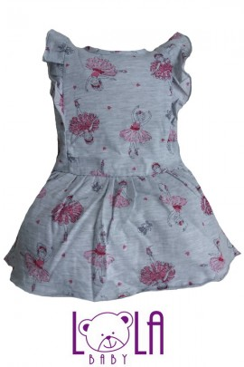 Платье LOLA Baletnica серый хлопок