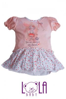 Платье LOLA Calineczka абрикос хлопок